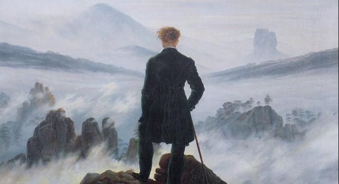 Caspar David Friedrich - Wędrowiec nadmorzem mgieł